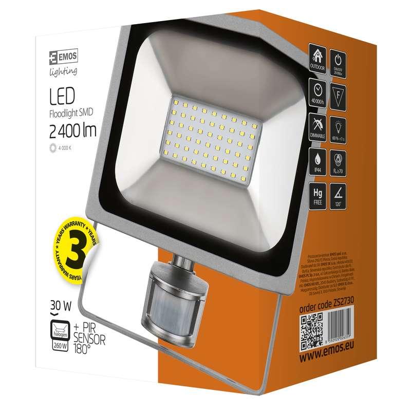 LED Reflektor 30W s PIR PROFI