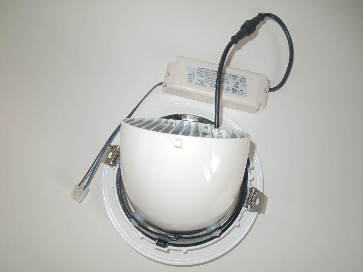 LED podhledové světlo 30W COB otočné naklápěcí