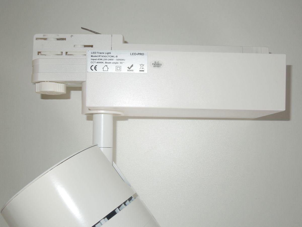 LED tracklight 30W COB otočný naklápěcí