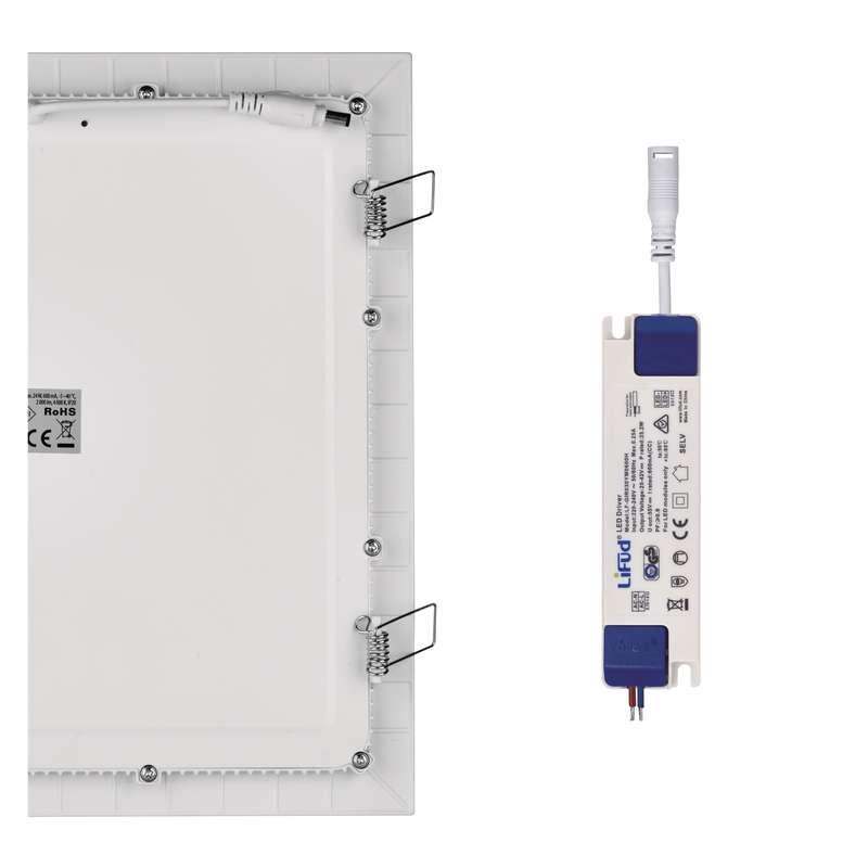 LED podhledové světlo 24W čtverec teplá bílá