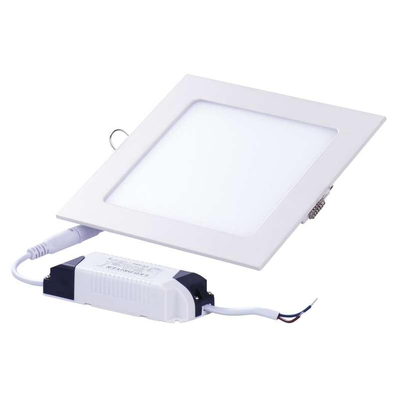 LED vestavné světlo 6W čtverec teplá bílá