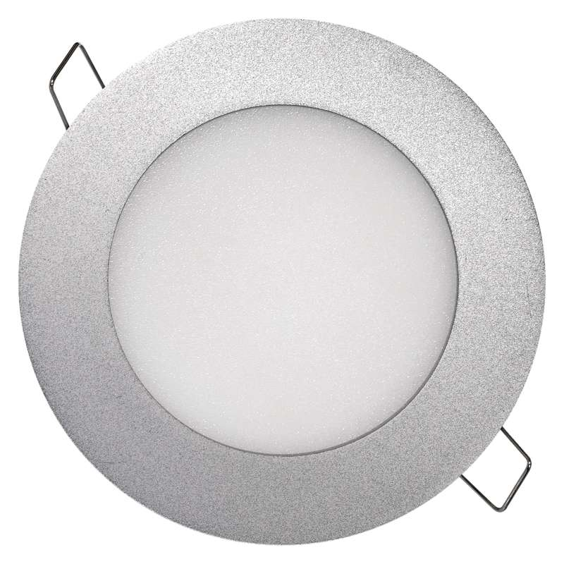 LED vestavné svítidlo, kruh 6W neutrální bílá Stříbrný