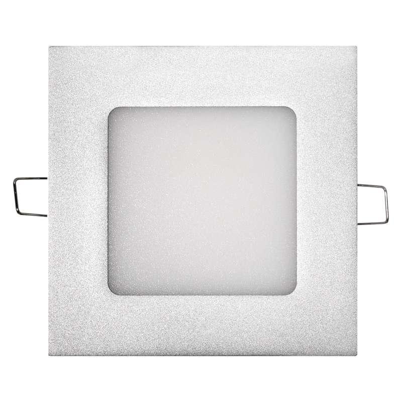LED vestavné světlo 6W čtverec neutrální bílá Stříbrný
