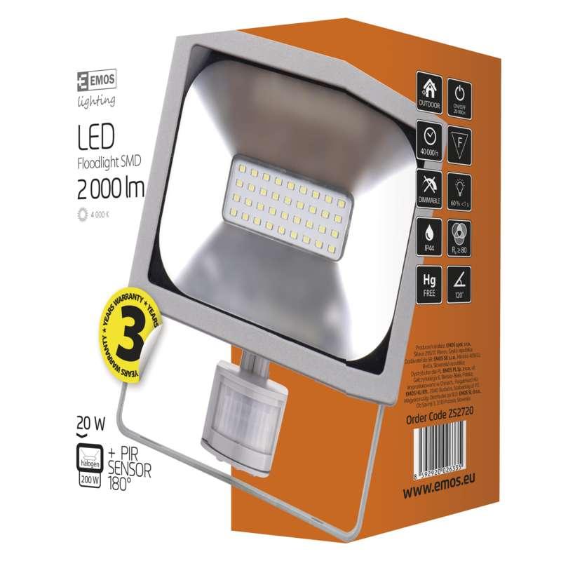 LED Reflektor 20W PIR senzor PROFI
