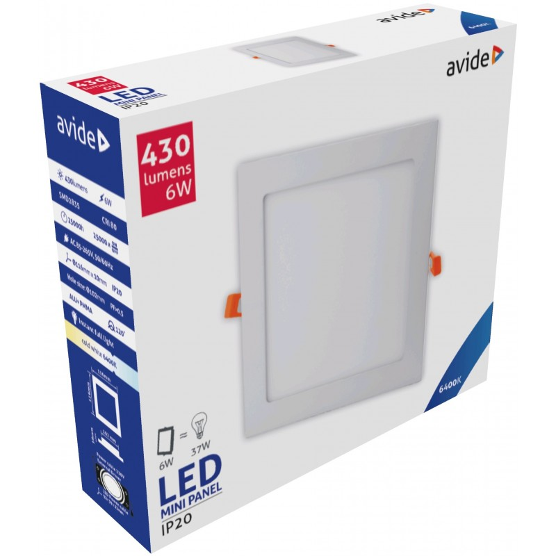 LED panel čtverec 6W