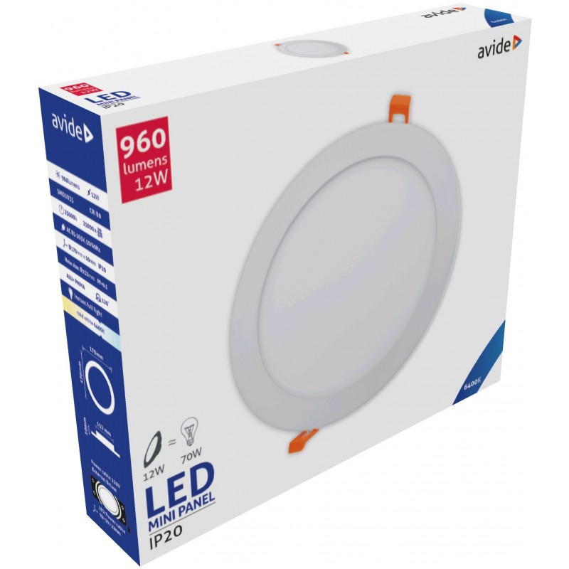 LED panel kruh 12W