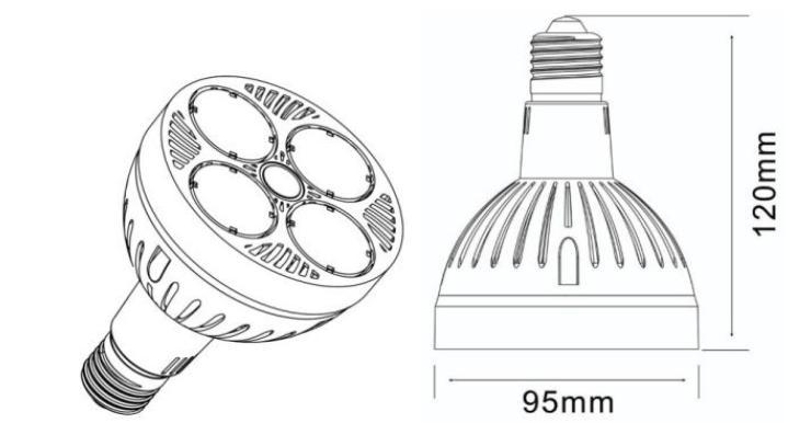 LED Track light 35W E27